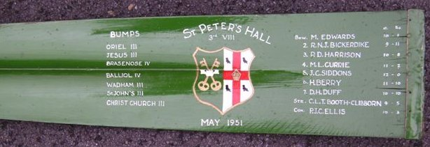 1951 SPC 3rd VIII blade from Eights (pc Peter Harrison)