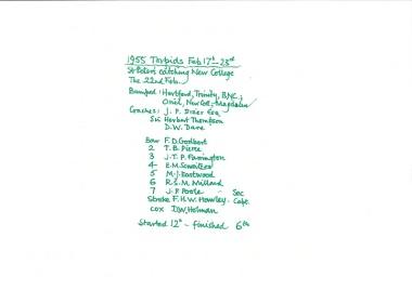 1955 %22Torpids 1955%22 painting Crew list