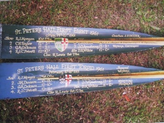 1961 SPC 1st VIII Torpid and EIghts blades