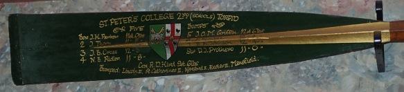 1966 2nd Torpid blade (pc John Thorn)