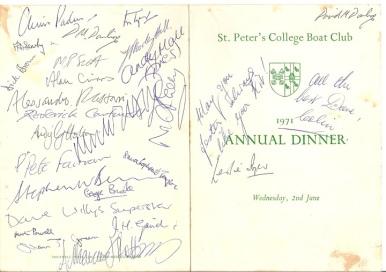 1971 SPC Rowing Dinner 1